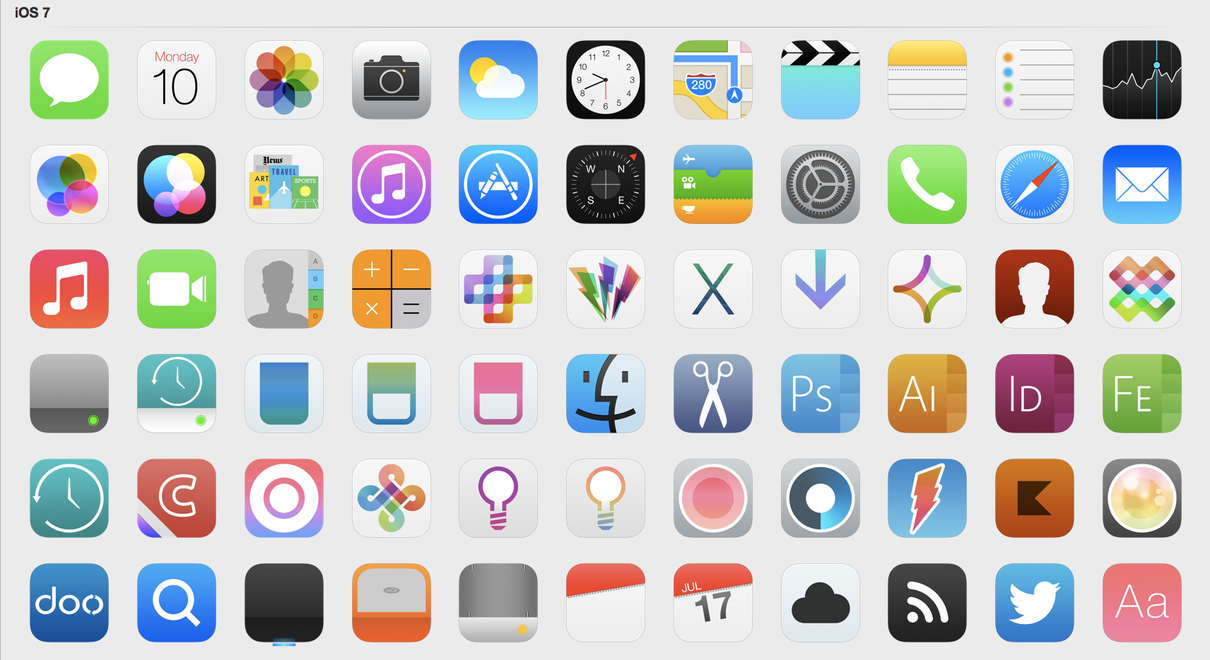IOS 7 Icons Updated By Iynque On DeviantArt