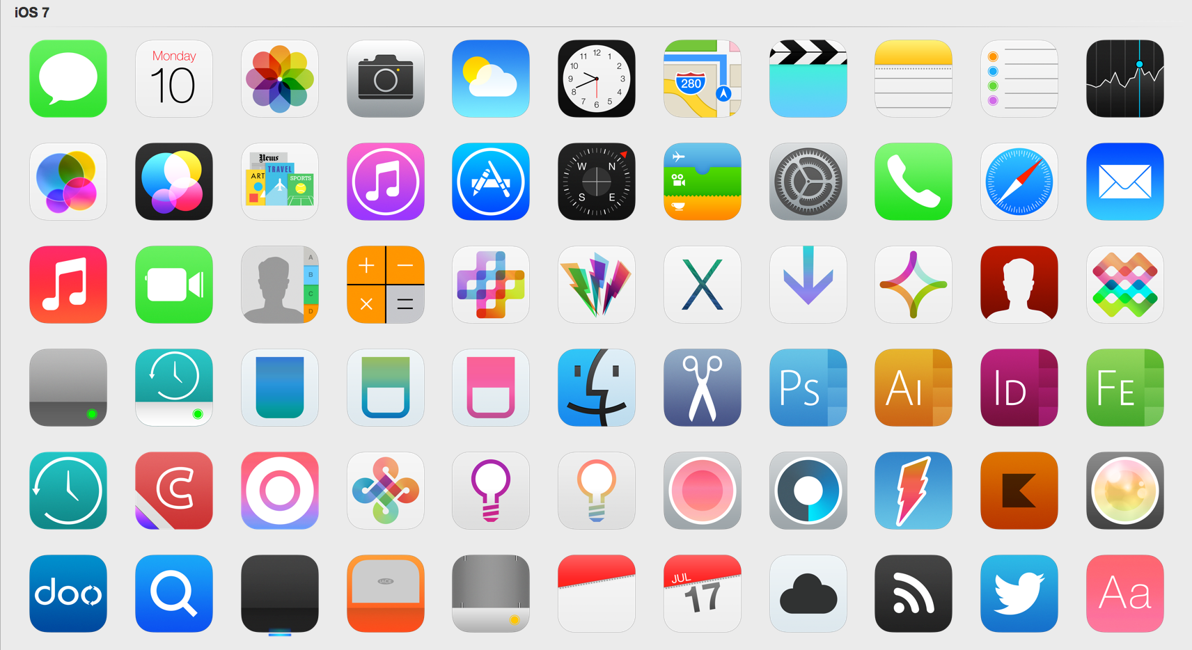 IOS 7 Icons Updated By Iynque