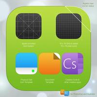 iOS 7 Icon Template PSD AI