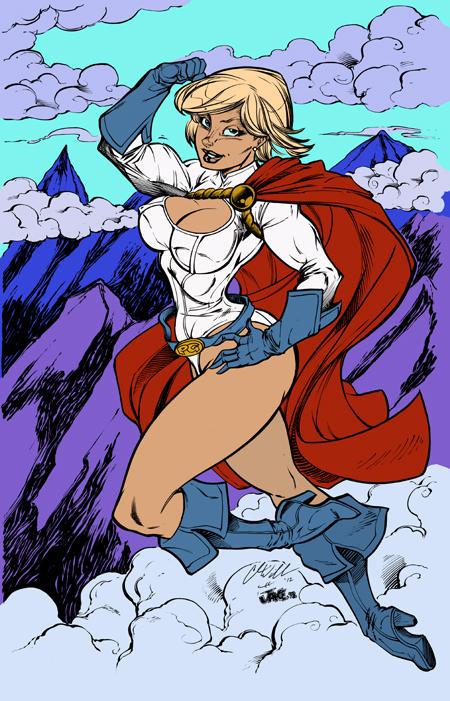 Power Girl by Inker-guy by BrokenJoker69