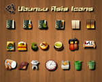 Ubuntu Asia Icons by michaelgoldthriteart