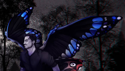 In the woods - Darkiplier Gif by JackyTheMoo