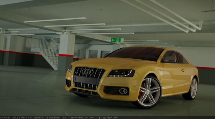 Audi S5 3D Model by cgrats