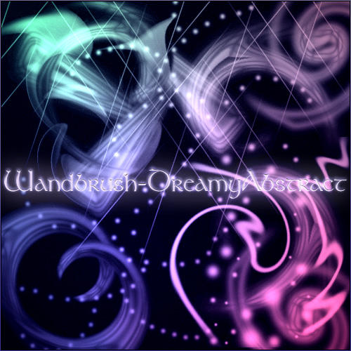 Wandbrush-DreamyAbstract by MonkWanderer