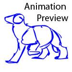 LH Animation Test- Didelphodon Scramble by SargassosArt