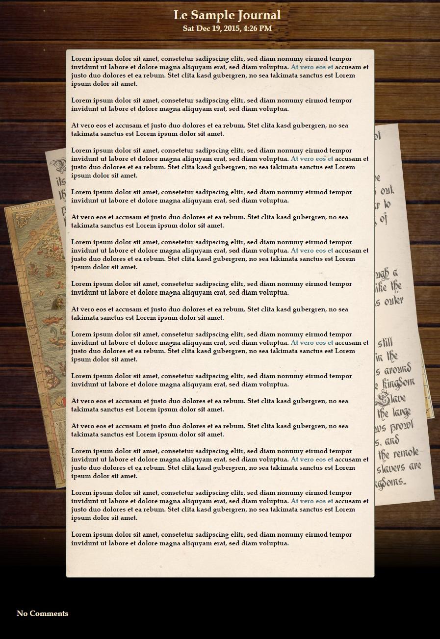 Ye Olde Journal Skin by SpecialSnowflaku