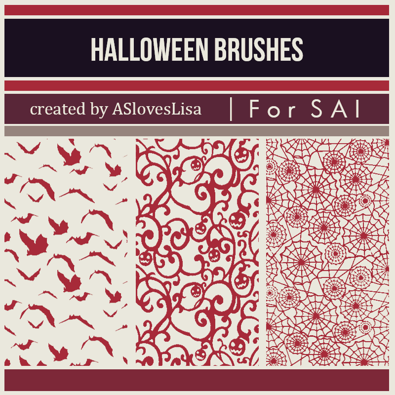 [For SAI] Halloween Brushes by ASlovesLisa
