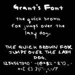 Grant's Font