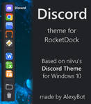 Discord theme for RocketDock by AlexyBot