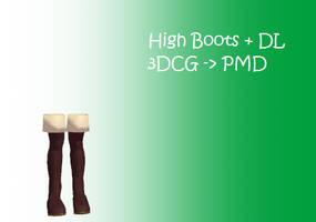 MMD: Boots + DL by Chibi-Baka-San