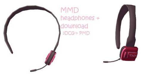 MMD: headphones + DL by Chibi-Baka-San