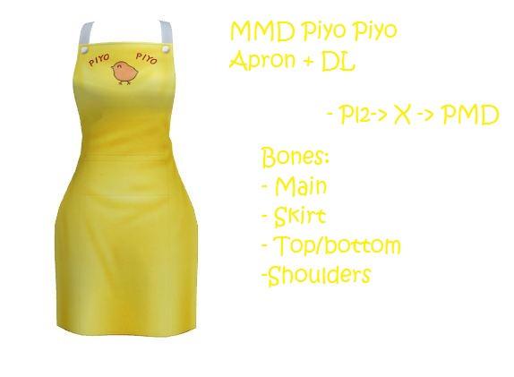 MMD: piyo piyo apron by Chibi-Baka-San