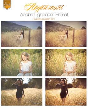 August Sunset Lightroom Preset