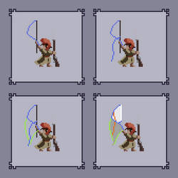 Pixel art animation tutorial: waving flag