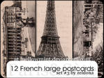 12 French Postcards