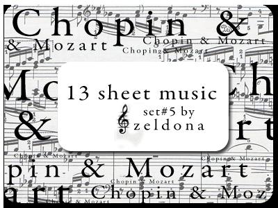 13 sheet music by mellowmint