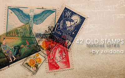 42 old stamps