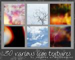 30 various icon textures