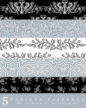 5 various patterns
