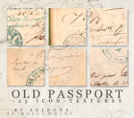 old passport - icon textures