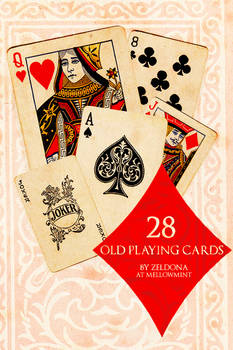 28 Old Playing Cards