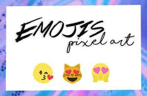 Emojis pixel art