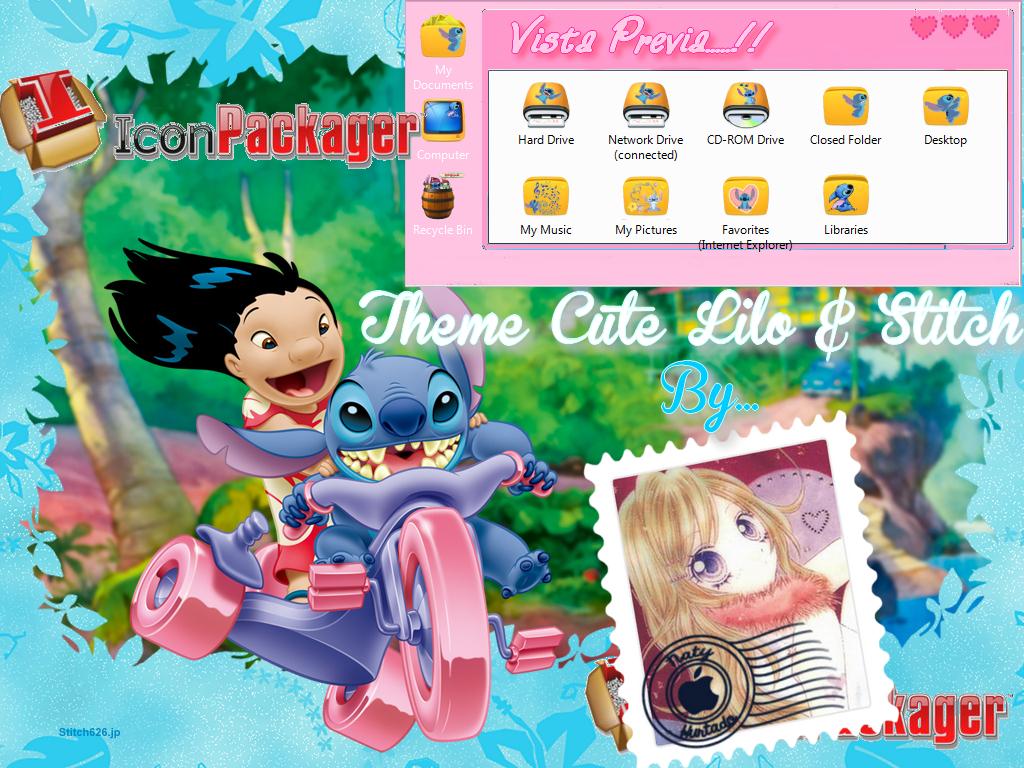Tema IconPackager Lilo y Stitch by NathalieHurtado