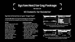 System Monitoring Package for Rainmeter [v1.0]