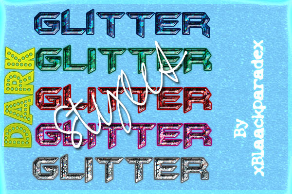 Tecno glitter Styles by xblaackparadex