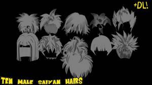 [mmd] saiyan styles - male + dl by freakyforms955