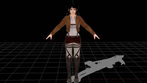 Attack on Marie Rose MMD Model DL