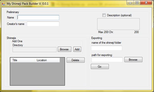 Shimeji Pack Builder by Dado94
