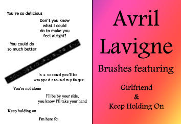 Avril Lavigne Brushes by jdmyluv