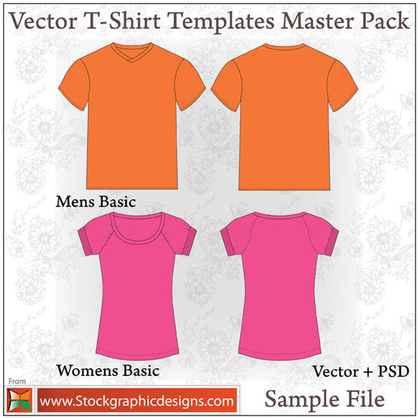 Vector T-shirt Templates by Stockgraphicdesigns