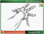 Hand Drawn Hands-Vector