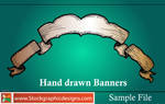Hand Drawn Banners-Vector