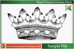 Hand Drawn Crowns-Vector