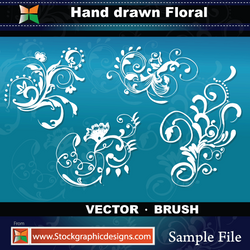 Hand Drawn Floral-Vector