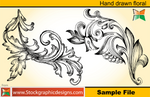 Set-2 Hand Drawn Floral Brush