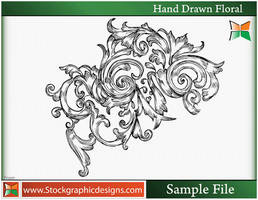 Set-3 Hand Drawn Floral Vector by Stockgraphicdesigns