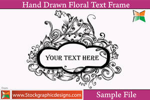 Hand Drawn Floral Text Frame by Stockgraphicdesigns