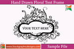 Hand Drawn Floral Text Frame