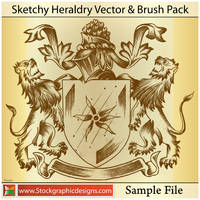 Sketchy Heraldry Vector by Stockgraphicdesigns