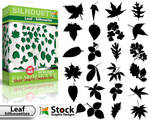 Free Leaf Silhouettes Vector Pack