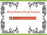 Hand Drawn Flower Corners Eps
