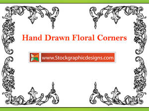 Hand Drawn Flower Corners Eps