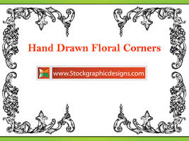Hand Drawn Flower Corners Abr by Stockgraphicdesigns