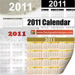 2011 Free Vector Calendar