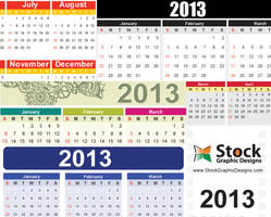 2013 Free Vector Calendar by Stockgraphicdesigns