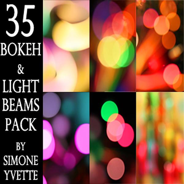 BOKEH AND LIGHT BEAMS PACK by simoneyvette